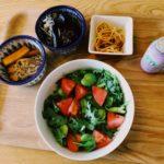 春菊そら豆サラダ